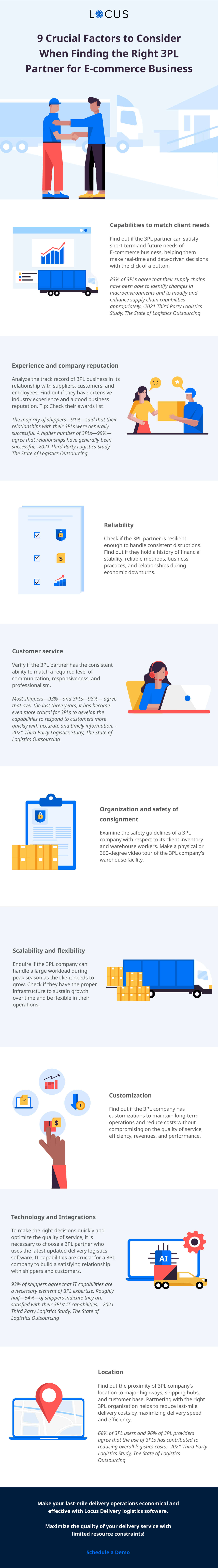 9 Factors to Consider While Choosing a 3PL Logistics Partner [Infographics]