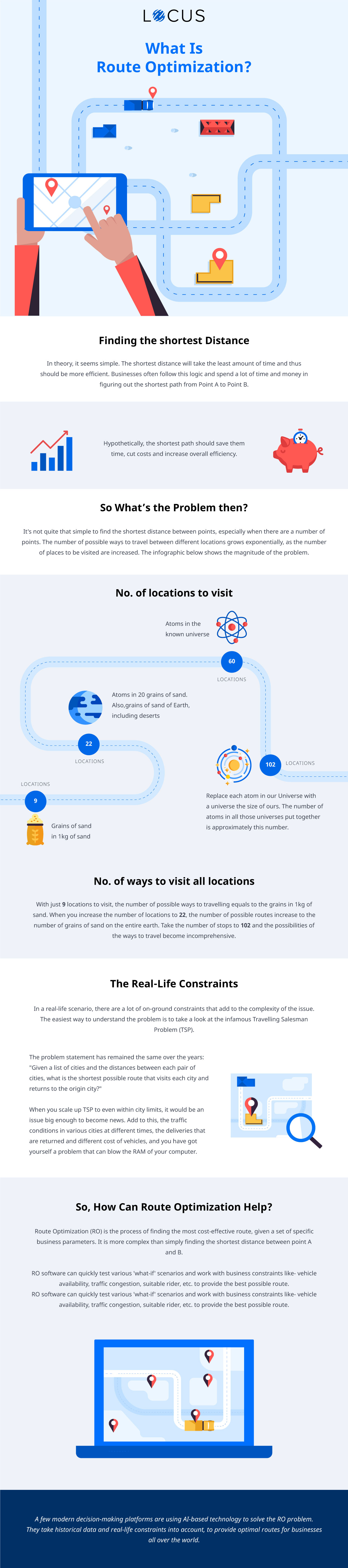 [Infographics] What is Route Optimization and Real Life Constraints?