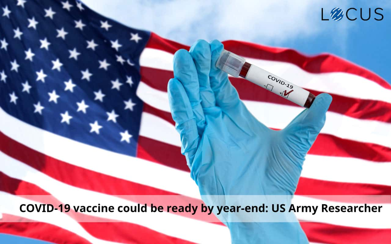 US Army Researcher Says a COVID-19 Vaccine Could be Ready by Year-End